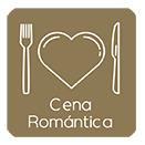 Casa rural cena romántica